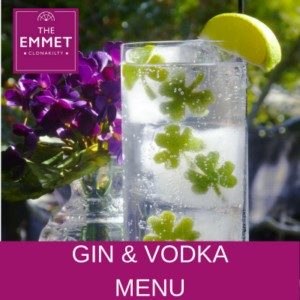 Gin and Vodka Menus
